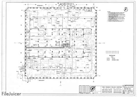 Table Of World Trade Center Tower A Drawings