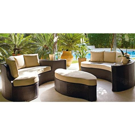 Argos Rattan Sofa by Buy The Collection Rattan Effect 6 Seater Patio Sofa Set 2