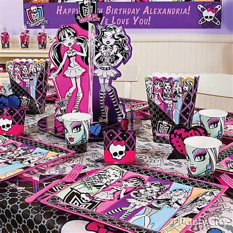 monster high home decor monster high party table idea party city