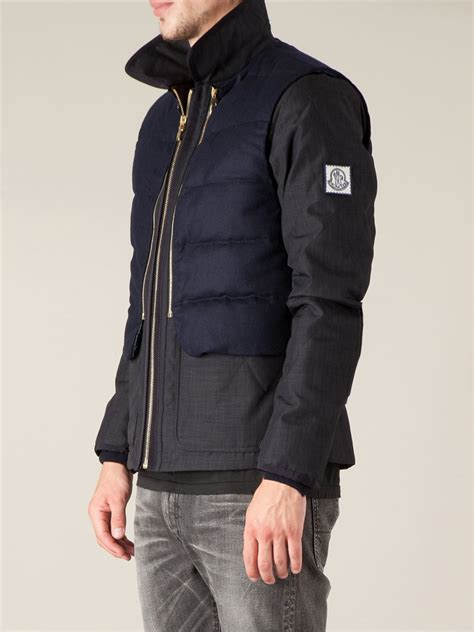 Moncler C 1 by Lyst Moncler Gamme Bleu Padded Jacket In Blue For