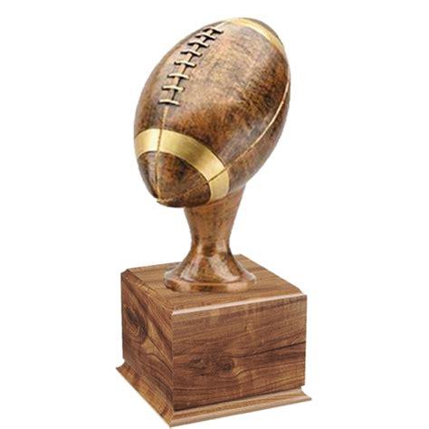 Large Base Large Football Trophy On Wood Base