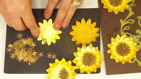 How To Make Paper Sunflowers - how to make a 3d paper sunflower mp4