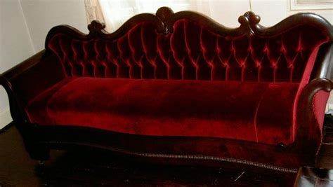 deep red sofa deep velvet red sofa goth dark decor pinterest