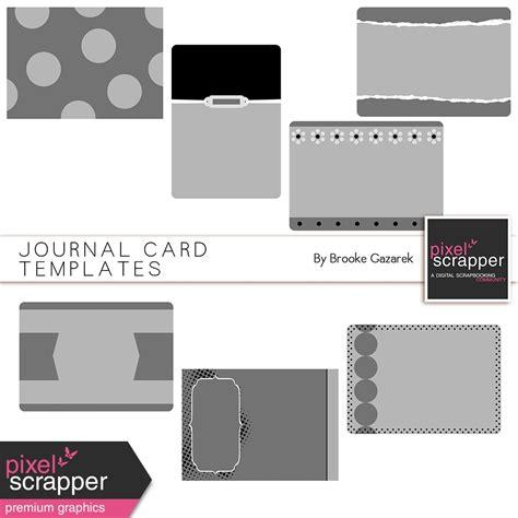 journal card templates journal card templates by gazarek graphics kit