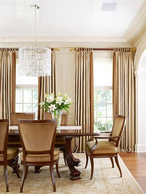 elegant curtains for dining room make an impact with texture tall windows room and