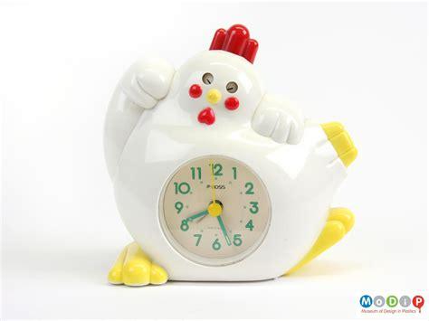 rooster alarm clock museum of design in plastics
