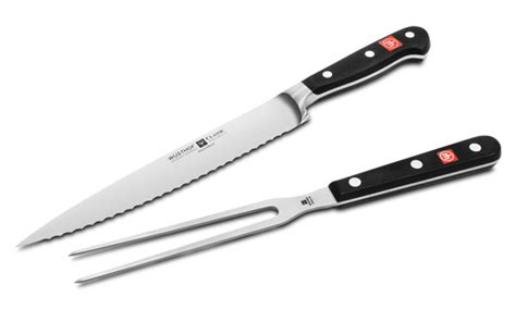 serrated fork wusthof classic serrated carving knife with sted fork