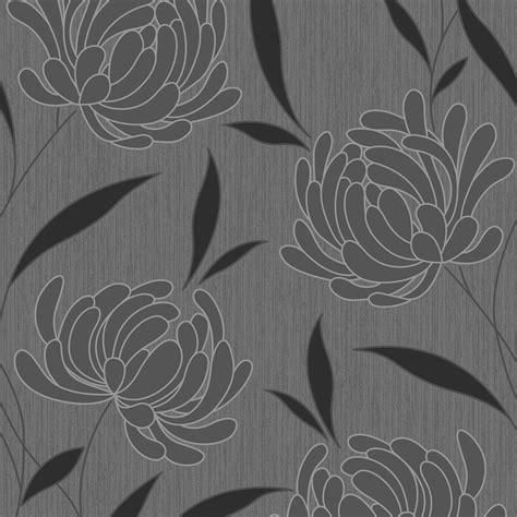 black and white floral wallpaper b q graham brown nadine black floral wallpaper departments