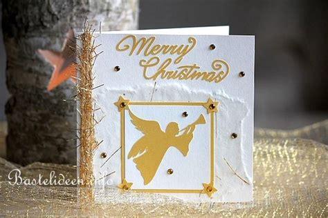 weihnachtskarten basteln weihnachtskarte mit engelmotiv