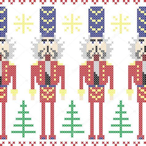 nordic christmas pattern vector nutcracker soldiers seamless christmas nordic pattern in