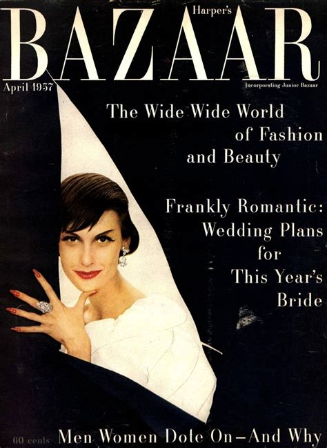 Is Cover Of Harpers Bazaar by Myfdb S Bazaar Cover April 1957 Magazine
