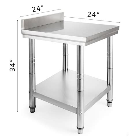 Kitchen Work Table Stainless 1500x750 Mm Ss 201 24 quot x 24 quot stainless steel kitchen work table commercial kitchen restaurant 2472 ebay