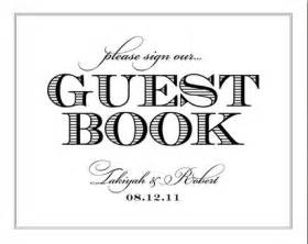 guest sign in book template a guestbook for your