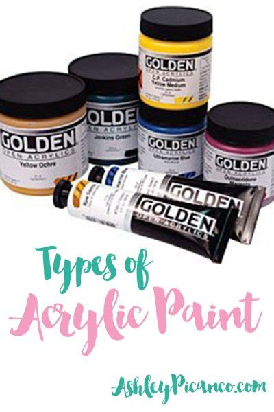 types of acrylic paint types of acrylic paint acrylic paint for beginners