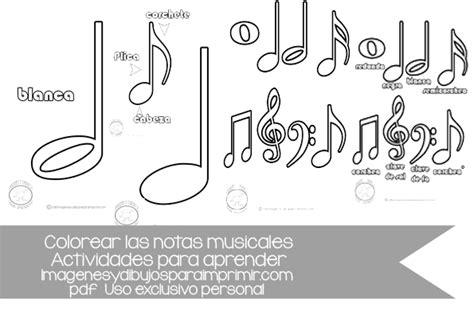 imagenes notas musicales para imprimir dibujos notas musicales para imprimir