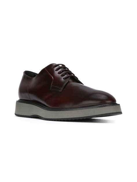 sole shoes rubber sole derby shoes in for lyst