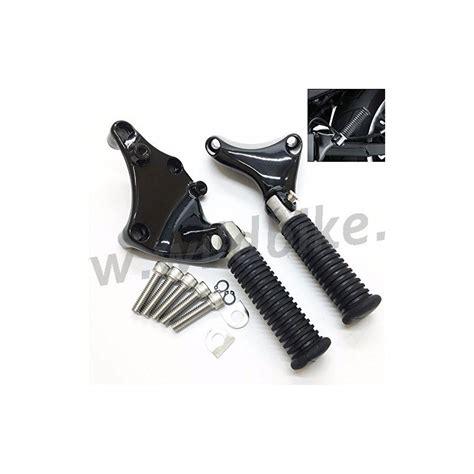 pedane harley kit di supporto nero attacco pedane passeggero per harley