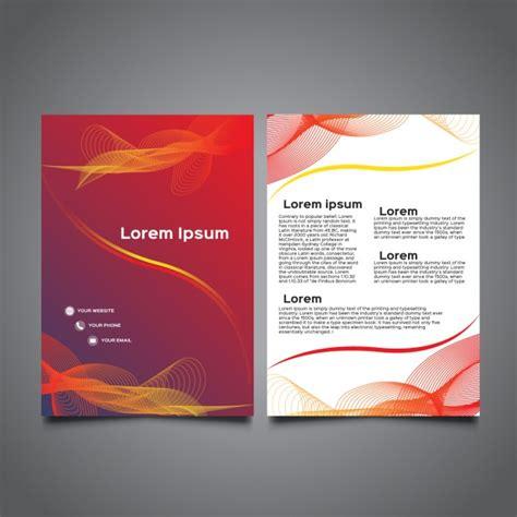 a5 brochure template modern wavy a5 brochure vector free