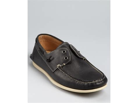 boat shoe loafer varvatos usa schoner boat shoe loafers in black