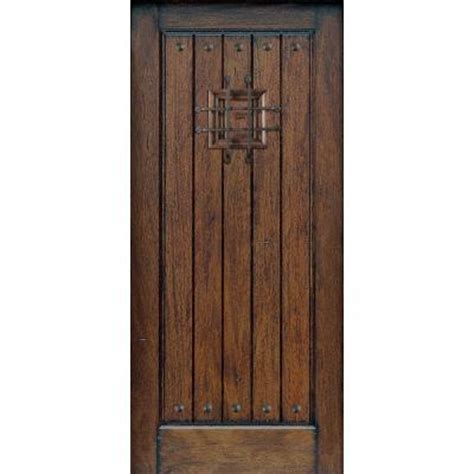 Solid Wood Interior Doors Home Depot main door 36 in x 80 in rustic mahogany type prefinished distressed v groove solid wood