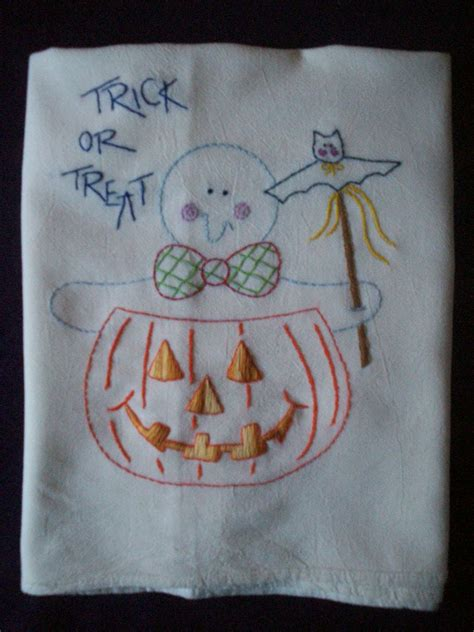 Ghost Towel 2 by Trick Or Treat Ghost Dish Towel Tea Towel