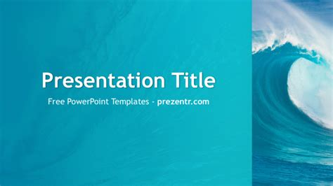 powerpoint themes waves free ocean waves powerpoint template prezentr