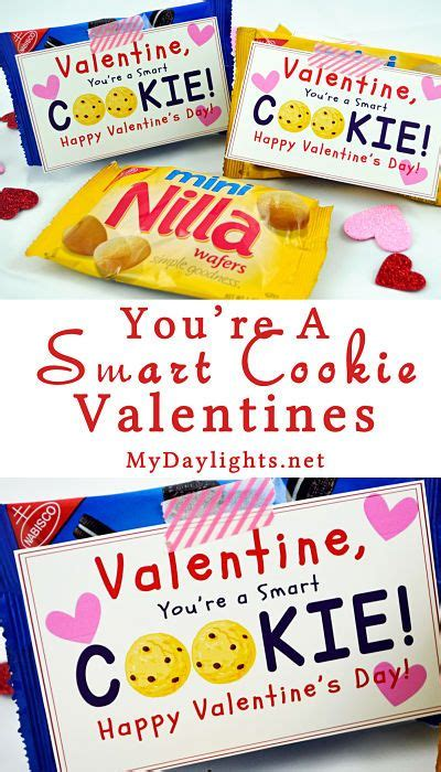 smart valentines smart cookie valentines and free printable on