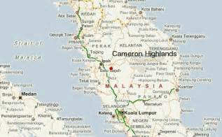 cameron map tanah rata location guide