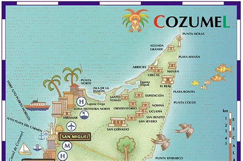 cozumel map cozumel island hopping and self driving awaygowe