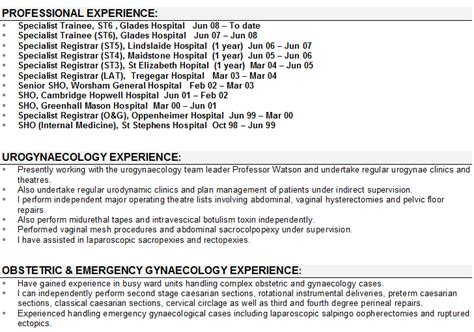 Job Resume Samples Retail by Medical Cv Sample