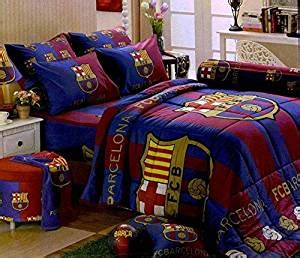barcelona fc bedroom set amazon com barcelona football club bedding in bag set twin size bc001 1 four season