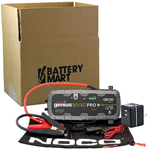 noco genius boost battery charger noco genius boost plus gb150 4000 12v ultrasafe