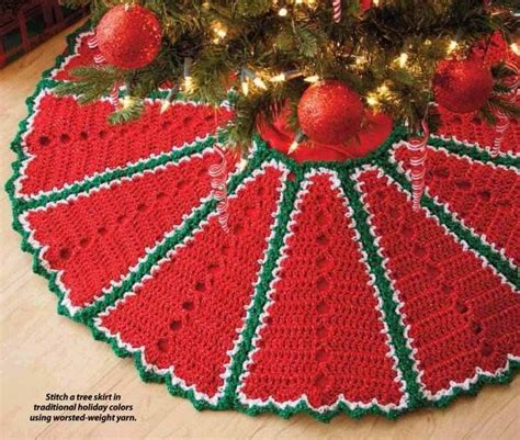 christmas tree skirt pattern uk y912 crochet pattern only traditional holiday color