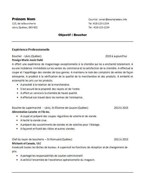 Lettre De Motivation De Boucher Modele Cv Gratuit Boucher Document