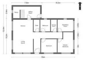 Simple House Floor Plans With Measurements Simple Floor Plans Measurements House Home Plans Blueprints 41868