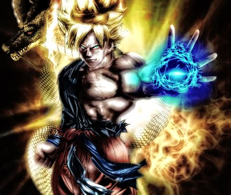 imagenes de goku en 3d goku ssj wallpaper by shibuz4 on deviantart
