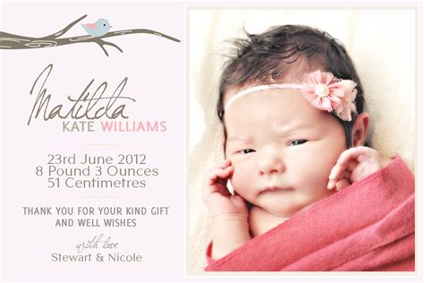 baby announcements card template birth announcements birth announcements templates