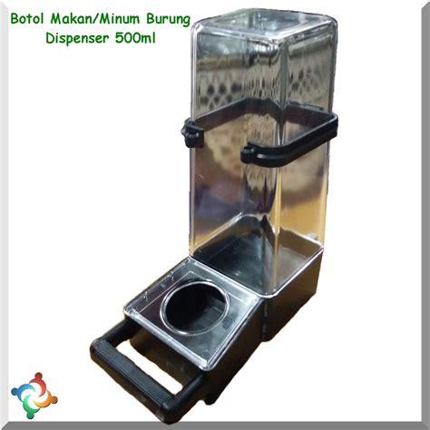 Tempat Minum Burung Tabung Jumbo botol makan minum burung 500ml tabung dispenser tempat