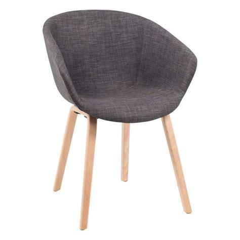 moderne fauteuil fauteuil moderne en tissu gris et bois naturel loona 4