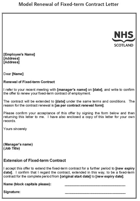 Non Renewal Letter Sample   employee contract letter
