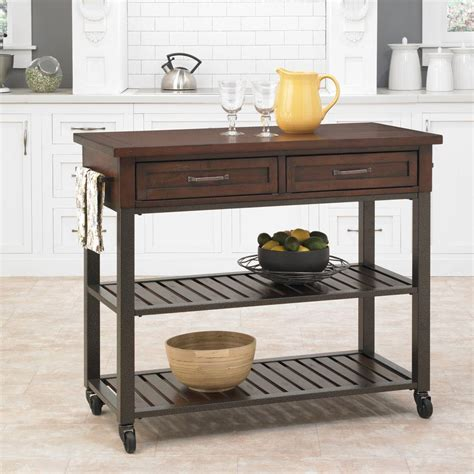kitchen cart ideas cabin creek chestnut kitchen cart with storage 5411 952