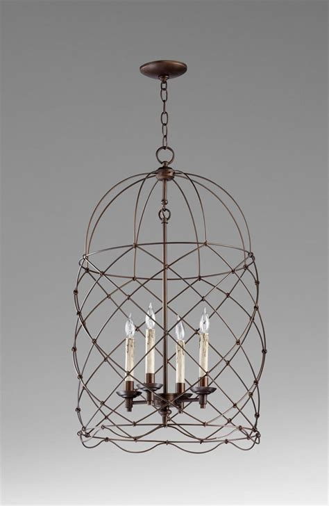 Bird Chandelier Lighting Adele Rubbed Bronze Four Light Bird Cage Chandelier Kathy Kuo Home