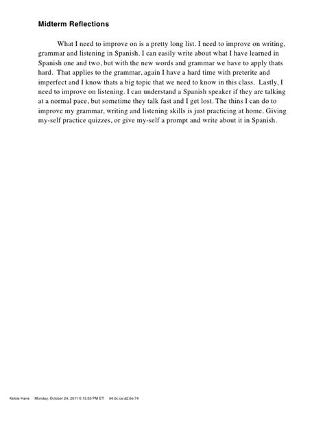 Mid Term Essay by Sp3 Midterm Reflection Essay