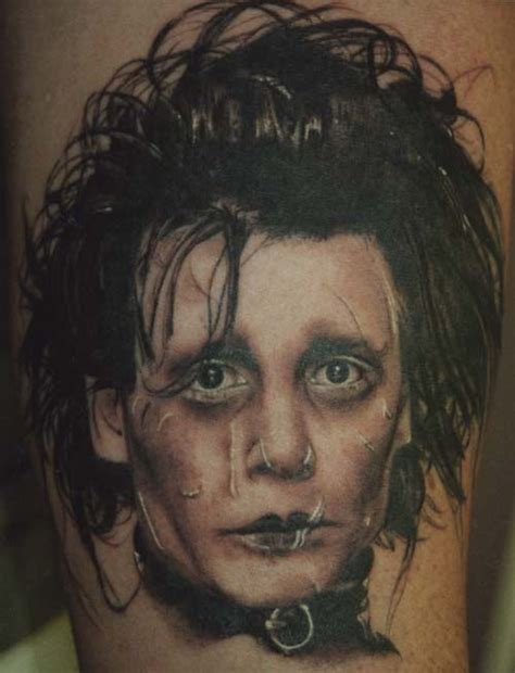 edward scissorhands tattoo portraits tatuajes