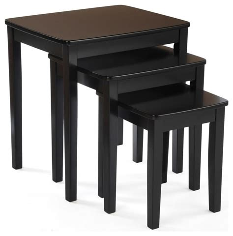 3 nesting end table set contemporary coffee