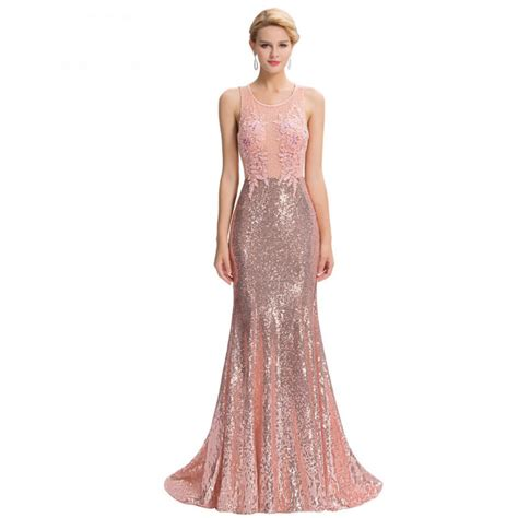 Mermaid Dress Scuba 02 pink sequin floor length backless lace mermaid evening dress uniqistic