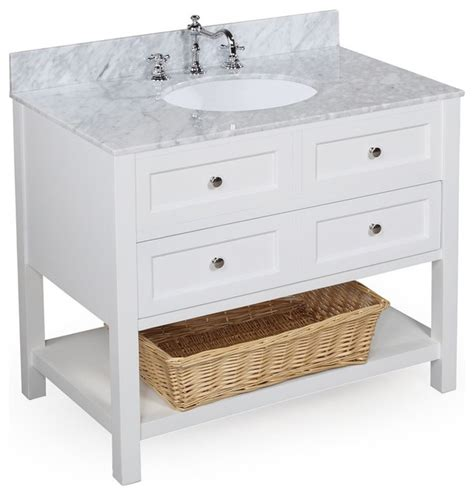 white bathroom vanity 36 new yorker 36 quot bath vanity carrara and white