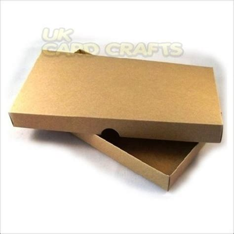 Boxes For Handmade Cards - 4 x brown kraft dl boxes for handmade greeting cards