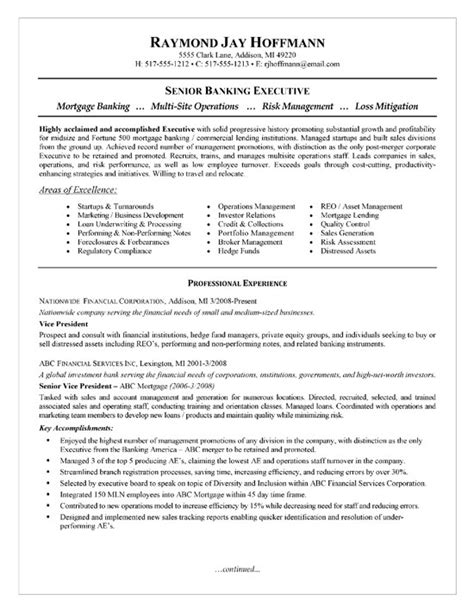 Sample Underwriter Resume by Mortgage Banker Resume Example