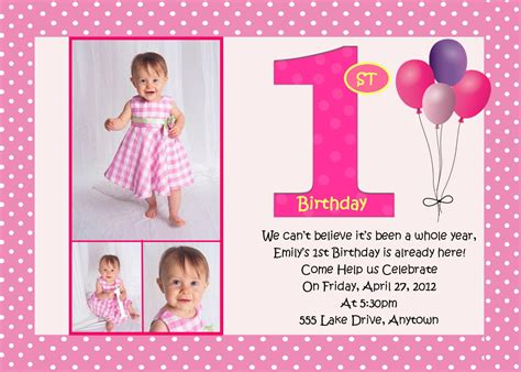 layout design for 1st birthday first birthday pink birthday invitation 3 designs to choose